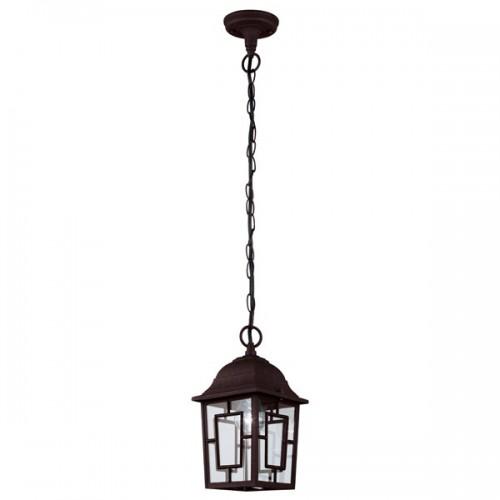 lampe-suspension-exterieure-antique-acier-marron-style-vitraux