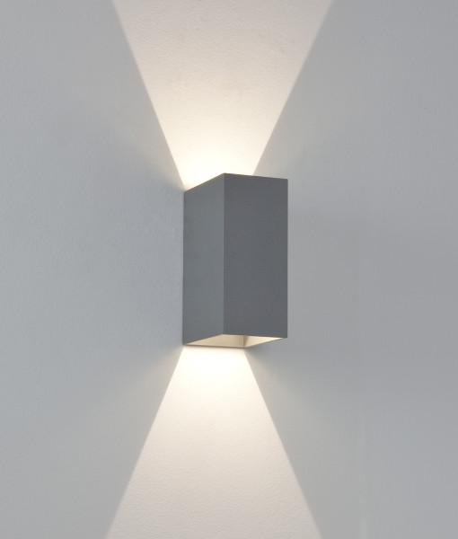 Applique gris fonc e led 2 6w orlando gamma lumix for Applique murale exterieure 100w